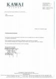 Szkolenie dla Techników firmy Kawai- Krefeld/Niemcy – 2003 rok